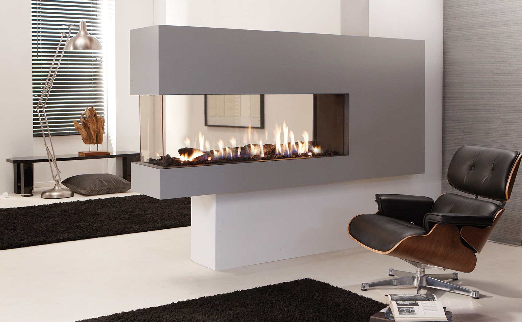 Atmospheric gas fireplace - Element4