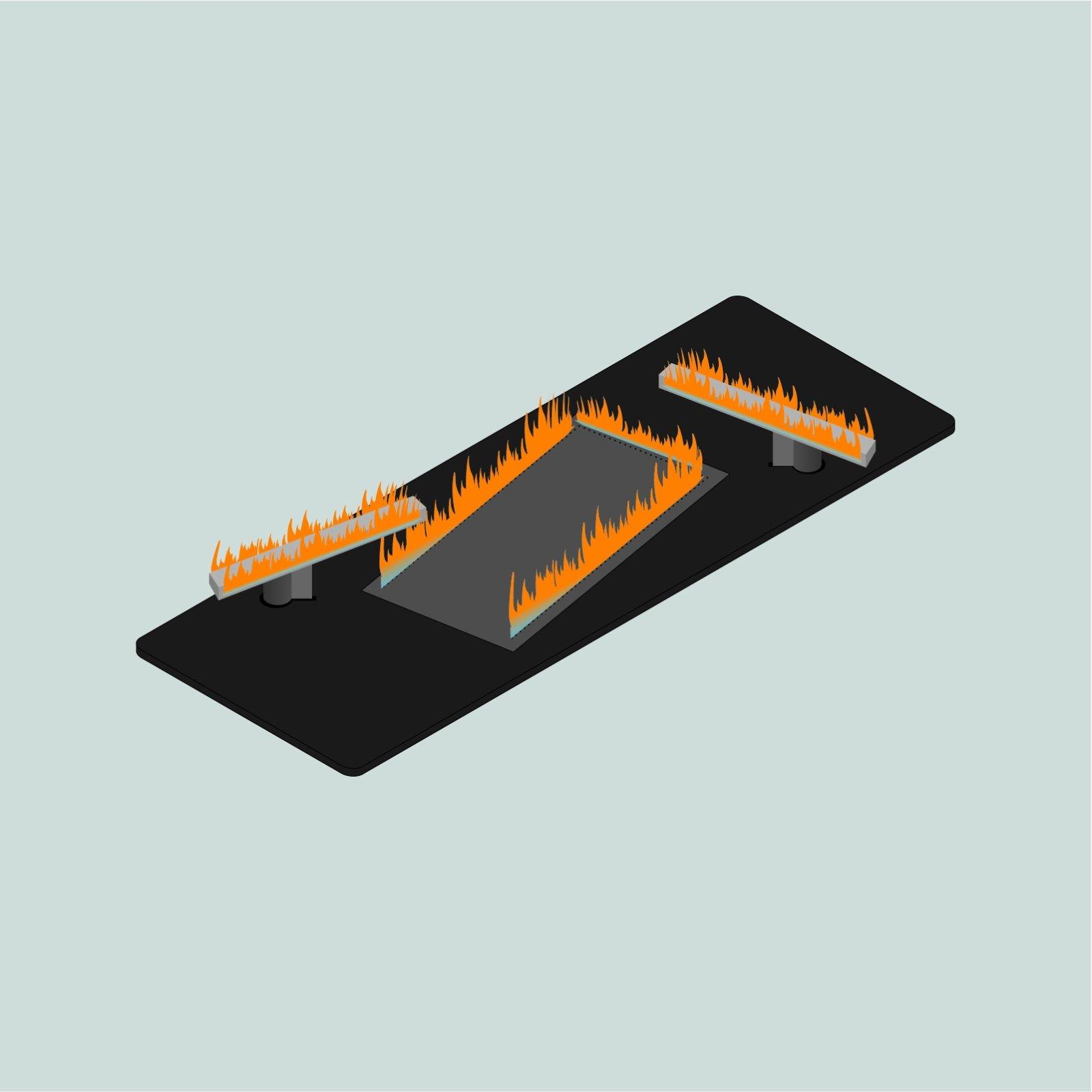Real Flame Burner M