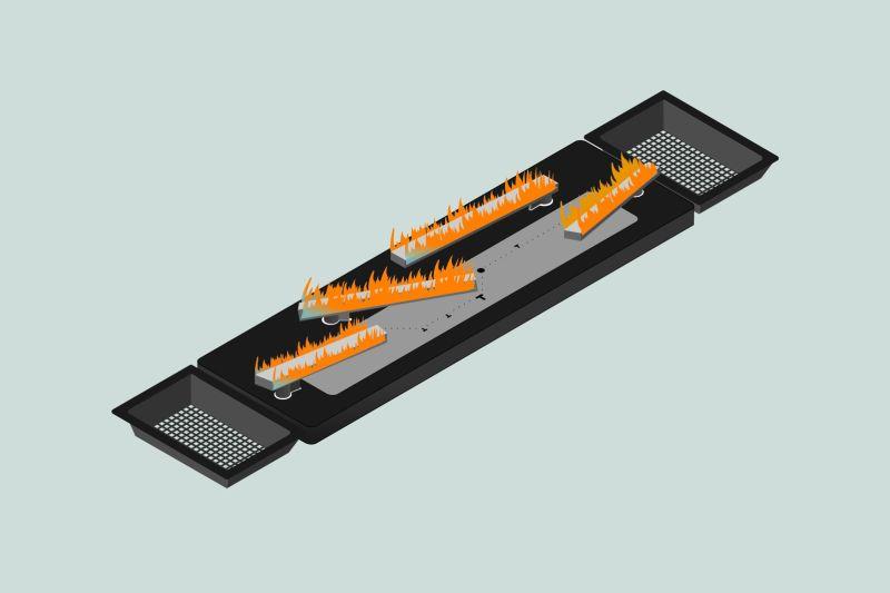 Real Flame Burner L LED